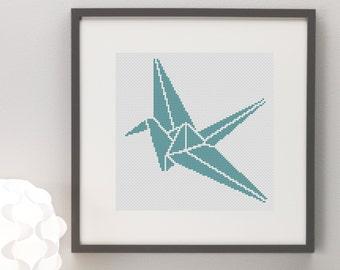 Origami Crane Cross Stitch Pattern