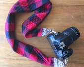 Buffalo Plaid Camera Strap
