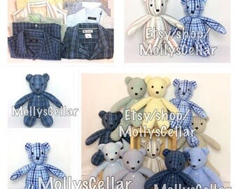 Memory bear, Keepsake clothing bear, memorial bear, Custom bear, bear from clothes, bear from shirt, custom teddyPlease read Item Details!!!