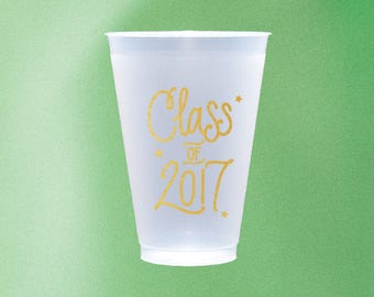 Class of 2017 - Graduation Reusable Cups (Qty 12) - GOLD