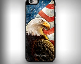 iPhone 6+ / 6s+ case with Full color custom graphics - American Eagle