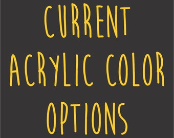 Current Color Options