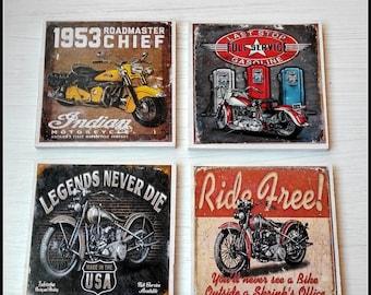 Retro coasters. Set of 4