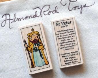 St Peter Patron Saint Block