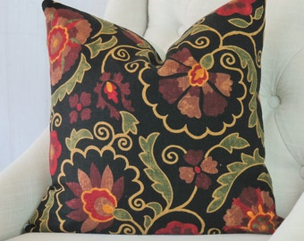 Designer Pillows, Red, Accent Throw Covers, 24x24, 22x22, 18x18, 16x16, 20x20, 26x26, Lumbar, Decorative Pillows, Pillow Covers