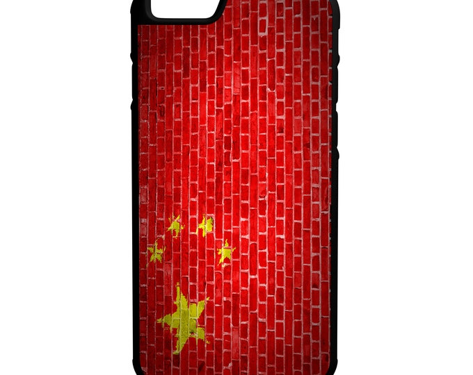 China Brick Wall Flag iPhone Galaxy Note LG HTC Hybrid Rubber Protective Case