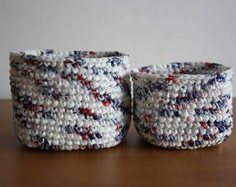 Two Crochet Baskets
