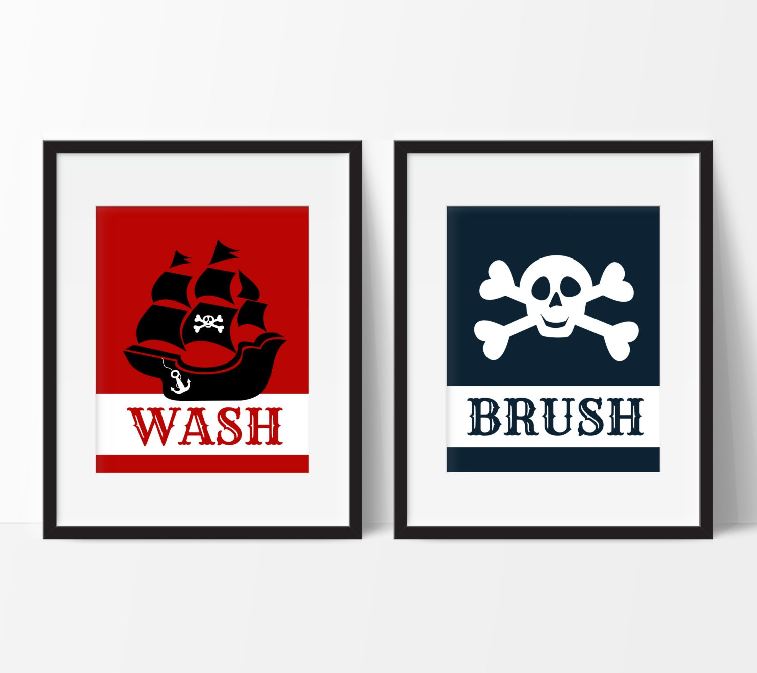 Kids bathroom rules pirate bathroom decor by for Bathroom decor rules