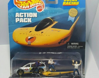 Vintage hot wheels solar racing action pack cars