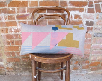 Screen printed rectangular placement cushion