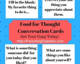 Food for Thought Conversation Cards for Family Table Talk