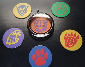 Customized Sports Team Window Plate for Floating Lockets-Fits Large (30mm) Lockets-Customize-Gift Ideas