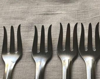 Vintage Set of 4 Dessert Forks