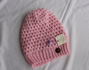 Urban slouchy beanie, Ready to ship, x-Small, PINK, winter hat, handmade hat, soft hat, crochet hat, fashion accessory