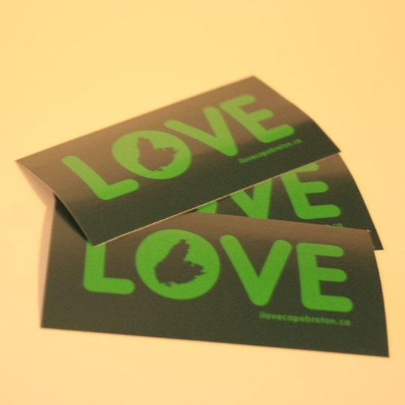 Cape Breton LOVE stickers (3)