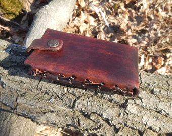 Brown Leather Case for Iphone, leather phone holder, leather case for smartphone, leather cover for smartphone