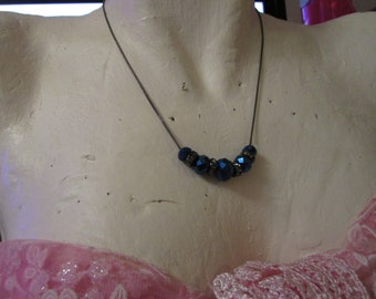 """vintage blacktone 14"""" chain necklace extends 3