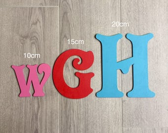 Victorian wooden letters, painted for free, wooden names, wall art, decor, personlaised wooden names, plaques, alphabet letters