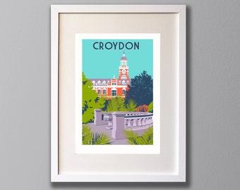 Croydon Town Hall- A3 Giclee print - Limited Edition - (UN)FRAMED