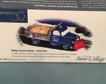 Department 56 Village Sevice Vehicle Snow Plow