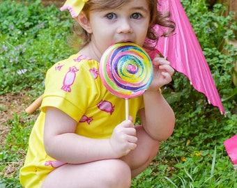 Sunshine Candy Leo - candy - summer - leotard -toddler