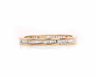 Vintage Diamond 18 k Gold Wedding band