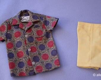 Vintage (Barbie) Ken Doll Sport Shorts Shirt & Shorts, Near Mint