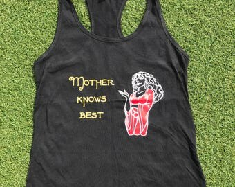 Rapunzel inspired tank/tee - Mother knows best