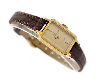 Vintage Omega De Ville Cal.1070 Gold Plated Hand Wind Ladies Watch 1408 - Make me an offer!