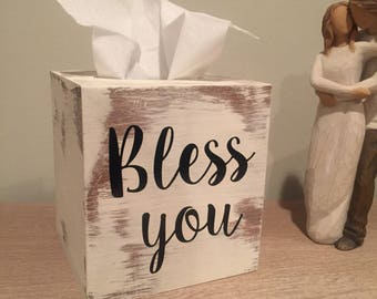 Rustic Wooden Tissue Box