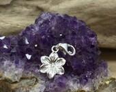 Cherry Blossom Charm, Cherry Blossom Flower Charm, Flower Charm, Sterling Silver Charm, Flower Pendant, PS42LC