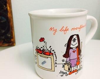 1980s Cathy Mug, Best Friend Mug, Cathy Guisewite Coffee Mug, Feminist, Comic Strip