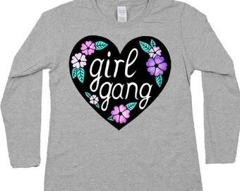 Girl Gang (heart) -- Women's Long-Sleeve