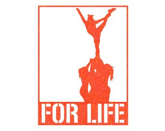 FOR LIFE Cheer Stunt Iron On Decal