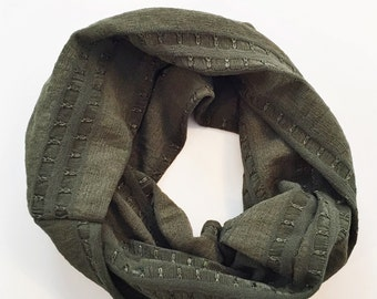 SALE: Olive Striped - baby tube scarf snood