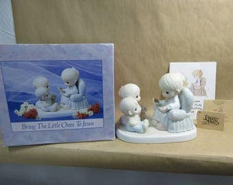 Vintage Enesco Precious Moments Bring the Little Ones to Jesus in Box 1991