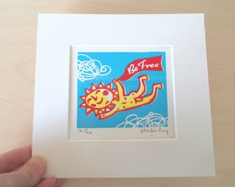 Limited edition handmade relief print, signed by Mike Levy 'Solly'