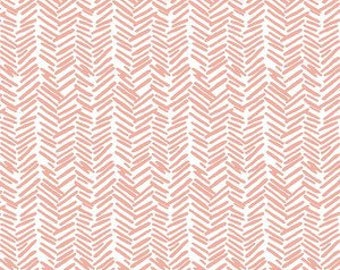 Boppy Lounger Cover - Feathered Herringbone in Pink