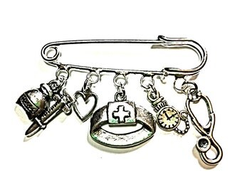 Nurse brooch~Nurse keyring~Nurse tibetan silver gifts