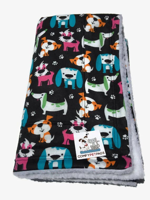Colorful Dog Blanket, Puppy Bedding, Blanket for Baby, Dachshund Dogs, Crate Bed, Dog Party, Made in Colorado, Gifts under 30, Couch Throw