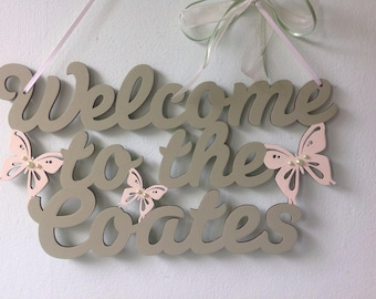 Welcome sign, personalised, new home gift, wedding gift, housewarming gift