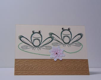 2 Frogs Greeting Card