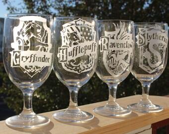 Set of 4 Hogwarts Goblets