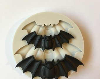 Silicone bat mold mould. Resin and clay crafting. Double cavity.