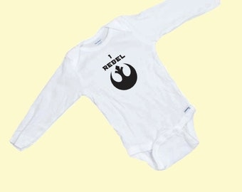 Starwars Rogue One  I Rebel LONG SLEEVE onesie