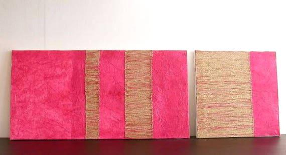 Coppia quadri materici moderni minimalisti/ Coppia dipinti