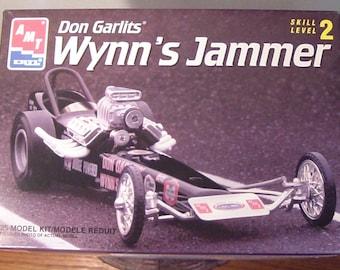 1994 Don Garlits' Wynn's Jammer Dragster Plastic 1/24th Scale Model Kit, Never Built, Like New, Gearhead, Kustom Kulture!!!