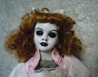 Pink Princess Creepy Doll with Black Eyes #55 Day of the Dollies