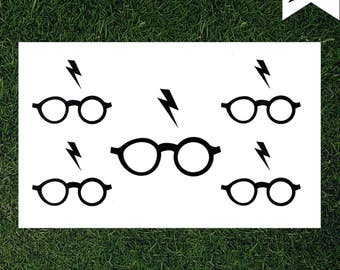 Harry Potter Glasses & Bolt Temporary Tattoo - Cosplay - Movie Tattoo