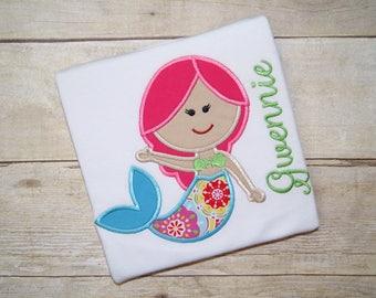 Mermaid Bodysuit Toddler Shirt, Girl Beach Shirt, Mermaids Shirt
